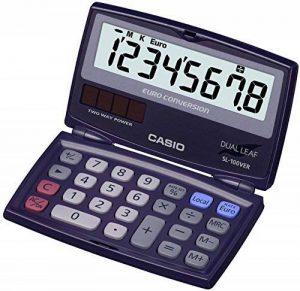 Casio SL100VER Calculatrice de poche pliable conversion euro de la marque Casio image 0 produit