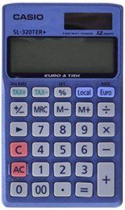 Casio SL320TER Calculatrice de poche 12 chiffres conversion euro de la marque Casio image 0 produit