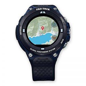 Casio wsd-f20a-buaae LCD GPS (Satellite) Noir, Bleu Montre Intelligente–Montre Smartwatch avec Écran LCD, Écran Tactile, WiFi, GPS (Lune), 90g, Noir, Bleu de la marque Casio image 0 produit
