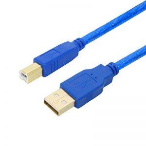 Câble d'imprimante 2m, USB 2.0Type A vers B Lead, cordon USB A mâle vers B mâle scanner pour HP, Canon, Lexmark, Epson, Dell, Xerox, Samsung, etc. de la marque Youii image 0 produit