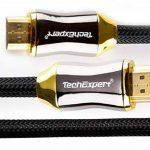 Câble hdmi 2.0 4K 60Hz professionnel ultra HD 2160p 2m 3D HDR 18GB/Sec ARC de la marque TechExpert image 1 produit