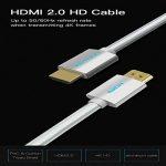 Câble HDMI (2M / 6.5ft), Vention PVC Bande de roulement en cuir tressé HDMI vers HDMI Câble HDMI 2.0 4k 3D 60FPS pour ordinateur portable LCD TV HD PS3 PS4 XBOX 360 Projecteur Câble d'ordinateur de la marque VENTION image 1 produit