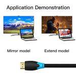 Câble HDMI (5M / 16ft), Vention 2.0v 4K Ultra HD 2160p à 60Hz Full HD 1080p 3D HDMI vers HDMI Câble mâle vers mâle pour TV HD Ordinateur portable LCD PS4 Pro Projecteur Câble d'ordinateur de la marque VENTION image 4 produit
