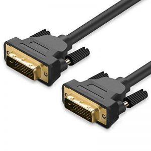 Câble JASDOIT 3m DVI-D mâle vers DVI-D mâle, Dual Link 24 + 1, résolutions HDTV 2560x1600,2x noyau en ferrite, conducteurs étamés en cuivre OFC, x.v.Color (Full HD 1080p 3D) pour jeux, DVD, Laptop, HDTV et Vidéoprojecteur de la marque FYELC image 0 produit