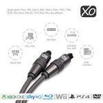 Câble Optique Audio Numérique XO Premium Install 2m TosLink SPDIF - Noir - Compatible avec PS4/3, Xbox One, Wii, Canal Sat HD, TVs HD, DVD, Blu-Rays, Amp AV. Super rapport qualité/prix. de la marque XO image 2 produit