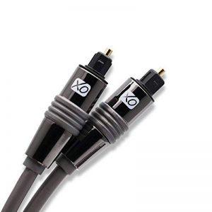 Câble Optique Audio Numérique XO Premium Install 2m TosLink SPDIF - Noir - Compatible avec PS4/3, Xbox One, Wii, Canal Sat HD, TVs HD, DVD, Blu-Rays, Amp AV. Super rapport qualité/prix. de la marque XO image 0 produit