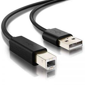 Câble Printer, Act Câble Imprimante USB 2.0 A vers B Mâle pour les Imprimantes HP, Canon, Lexmark, Epson, Dell, Xerox, Samsung, Oki, Pixma, Hero etc. (1.5m) de la marque Act image 0 produit