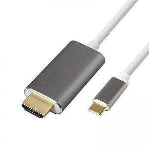 Câble USB 3.1 Type C vers HDMI,ProElechain Cordon Type C mâle (Thunderbolt 3 Compatible) à HDMI 4K@30hz, Adaptateur Pour 2016 MacBook Pro/2015 MacBook/Chromebook Pixel/Samsung Galaxy S8 etc(1,8 M) de la marque ProElechain image 0 produit