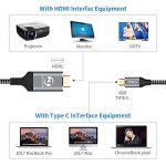 Câble USB C vers HDMI type C vers câble HDMI mâle vers mâle 4K 60Hz pour Apple Nouveau MacBook Pro MacBook 2016Samsung Galaxy S8S8+ Dell XPS15Acer Spin 7au moniteur HDTV Vidéoprojecteur de la marque YOJOCK image 2 produit