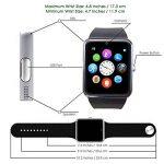 CHEREEKI Bluetooth Smart Watch avec appareil photo prend en charge SIM Card TF Card Wrist Phone Watch Écran tactile Smartwatch Pedometer Bracelet pour Android Smartphones de la marque CHEREEKI image 1 produit