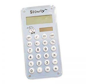 Chiffre de carte de puissance solaire de mini calculatrice créatrice chiffres affichage de chiffre de crédit mince, bleu de la marque Black Temptation image 0 produit