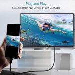 CHOETECH 1.8M Câble USB 3.1 Type C vers HDMI 4K@60HZ(Thunderbolt 3 compatible)pour Galaxy s9/s9 plus/s8/s8 plus/Note 8/HUAWEI Mate 10/Mate 10 pro/P20/P20 pro,2017/2016 MacBookPro, iMac 2017, 2015 MacBook, ChromeBook Pixel etc de la marque CHOETECH image 4 produit