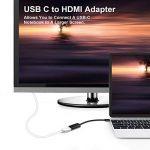CHOETECH HUB-H04 Adaptateur USB C vers HDMI 4K Résolution (Thunderbolt 3 Compatible) pour Galaxy s9/s8/plus/Note 8/Huawei P20,MacBook Pro de la marque CHOETECH image 2 produit