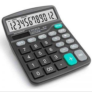 chou-rave calculatrice de bureau grosses touches à 12chiffres calculatrice de bureau solaire pour l'école Home Office de la marque Rabi image 0 produit