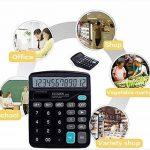 chou-rave calculatrice de bureau grosses touches à 12chiffres calculatrice de bureau solaire pour l'école Home Office de la marque Rabi image 4 produit