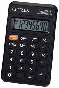 Citizen 925965 Calculatrice LC-310N Poche 8 Chiffres 114 x 69 x 18mm Plastique Assorties de la marque Citizen image 0 produit