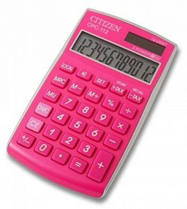 Citizen CPC 112PKWB Calculatrice de poche Fuchsia de la marque Citizen image 0 produit