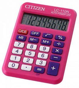 Citizen LC110NPK Poche Calculatrice basique Rose calculatrice - Calculatrices (Poche, Calculatrice basique, 8 chiffres, 1 lignes, Batterie/Pile, Rose) de la marque Citizen image 0 produit