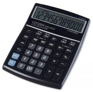 Citizen SDC4310 Calculatrice de bureau grande dimension Noir Glossy de la marque Citizen image 0 produit