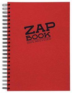 Clairefontaine 8354C Zap book Bloc d'esquisse spiralé 21 x 29,7 uni Coloris aléatoire de la marque Clairefontaine image 0 produit