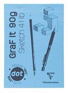 Clairefontaine 96696C GraF'it Dot Bloc collé - 80 Feuilles - A4 (29.7 x 21cm) - Bleu Ciel de la marque Clairefontaine image 0 produit