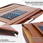 Classeur conférencier en cuir marron à fermeture pour ranger tablette iPad de la marque Skittz image 3 produit