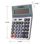 Comix Fonction Standard Calculateur de Bureau, Double alimentation, Angle d'écran réglable, Affichage 12 chiffres, CS-3222 de la marque COMIX image 2 produit