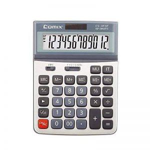 Comix Fonction Standard Calculateur de Bureau, Double alimentation, Angle d'écran réglable, Affichage 12 chiffres, CS-3222 de la marque COMIX image 0 produit