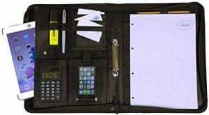 Conférencier A4 élégant I Porte Documents avec Bloc-Notes & Calculatrice I Organiseur pour Homme & Femme, similicuir noir, de K.DESIGNS de la marque K.DESIGNS image 0 produit