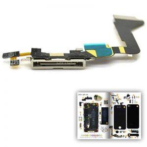 Connecteur Dock avec micro (dictaphone et appel) noir pour iPhone 4 avec patron papier d'aide au montage offert de la marque Brico-Phone image 0 produit