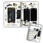 Connecteur Dock avec micro (dictaphone et appel) noir pour iPhone 4 avec patron papier d'aide au montage offert de la marque Brico-Phone image 1 produit