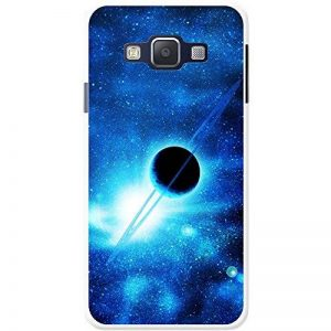 Coque rigide pour téléphone portable motif Explorateur de l'espace, plastique, Saturn In Blue Space, Samsung Galaxy A3 (A300F/FU) de la marque Fancy-A-Snuggle image 0 produit