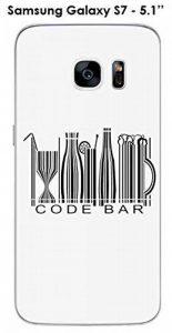 Coque Samsung Galaxy S7 design Message Code Bar Texte noir de la marque Onozo image 0 produit