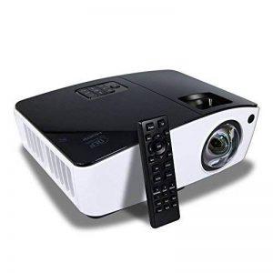 Courte Distance Projecteur, NIERBO Vidéoprojecteur 3D DLP, Full HD 1080P Ultra courte focale Projector, 8000 Lumens 2000 ANSI de la marque NIERBO image 0 produit