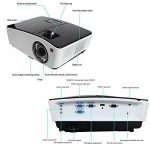 Courte Distance Projecteur, NIERBO Vidéoprojecteur 3D DLP, Full HD 1080P Ultra courte focale Projector, 8000 Lumens 2000 ANSI de la marque NIERBO image 1 produit