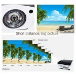 Courte Distance Projecteur, NIERBO Vidéoprojecteur 3D DLP, Full HD 1080P Ultra courte focale Projector, 8000 Lumens 2000 ANSI de la marque NIERBO image 2 produit