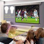 Courte Distance Projecteur, NIERBO Vidéoprojecteur 3D DLP, Full HD 1080P Ultra courte focale Projector, 8000 Lumens 2000 ANSI de la marque NIERBO image 4 produit