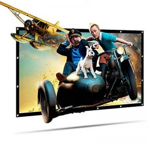 Écran de Projection LATIT, Écran de Projection Portable, Écran de Cinéma HD, Écran Pliable extérieur, Pas de pli, Diagonale sans pli (100 inch) de la marque LATIT image 0 produit