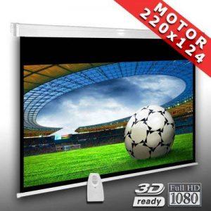 Écran de projection motorisé 220 x 124 cm SlenderLine Plus, Format 16:9 FULL-HD 3D 4K 8K, Écran de projection électrique pour vidéoprojecteur, Home Cinema, pour Mur ou Plafond, avec Télécommande de la marque Alphavision*Business image 0 produit