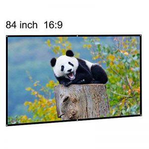 Écran de projection portable 84 inch 16:9 Diagonal portable DIY intérieur extérieur film projecteur écran HD mur monté Home Cinema Cinéma écran mat blanc pour l'école à domicile salle de réunion d'aff de la marque EUG image 0 produit