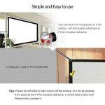 Écran de projection portable 84 inch 16:9 Diagonal portable DIY intérieur extérieur film projecteur écran HD mur monté Home Cinema Cinéma écran mat blanc pour l'école à domicile salle de réunion d'aff de la marque EUG image 4 produit