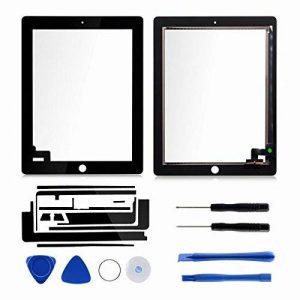 Écran Tactile Complet Numériseur pour iPad 2 avec Bouton Home Puce IC Câble Flexible Adhésif Outils-Dazone®-Noir de la marque Dazone image 0 produit