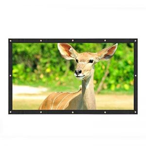 Écran Toile Rideau Projecteur HD Vidéo Projection Mat Blanc 16:9 Cinéma Maison Pliable Léger Portable avec Trous de Suspensions pour Projection Extérieure et Intérieure de la marque VGEBY image 0 produit