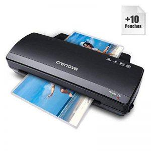 Crenova LT01, Plastifieuse A4 250mm/min Chauffage rapide, largeur max 230mm+10 Pochettes de plastification de la marque Crenova image 0 produit