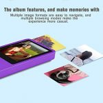 Crillutar Lecteur MP3 8 GB Lecteur MP4 Enregistreur Vocal avec Visionneuse Photo, Radio FM Et Fonction E-Book Et écran 1,8 Pouces, avec Carte Micro SD de 8 GB, Extensible à 32 GB (Violet) de la marque Crillutar image 4 produit