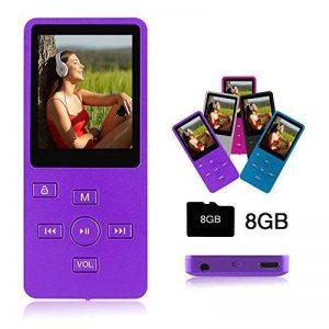 Crillutar Lecteur MP3 8 GB Lecteur MP4 Enregistreur Vocal avec Visionneuse Photo, Radio FM Et Fonction E-Book Et écran 1,8 Pouces, avec Carte Micro SD de 8 GB, Extensible à 32 GB (Violet) de la marque Crillutar image 0 produit