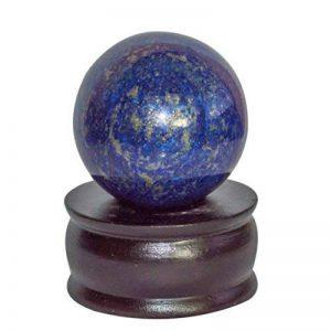 Crocon Lapis Lazuli Reiki Healing Générateur d'énergie de Pierre Précieuse de Boule Boule de Cristal avec Support pour Chakra Balancing Aura Nettoyage pour Ordinateurs et Emf Protection 40–50mm de la marque Crocon image 0 produit
