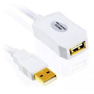 CSL – 10m (mètres) câble de rallonge USB 2.0 avec amplificateur actif / répéteur | extensible | contacts dorés | blanc de la marque CSL-Computer image 0 produit