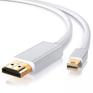 CSL - 2,0m Full HD Mini Displayport vers HDMI câble avec audio | Full HD miniDP vers HDMI | certifié | pour et Apple / MAC, MacBook Pro, MacBook Air | blanc de la marque CSL-Computer image 0 produit