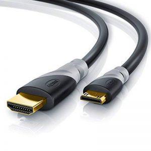 CSL - 3m (mètres) câble Mini HDMI 1.4a / 2.0 (High Speed) avec prise en charge ECHT 3D & Ethernet | Adapté à Full HD/Ultra HD/HD Ready / 3D | 1080 p / 2160 p / 4k de la marque CSL-Computer image 0 produit